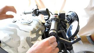 how to install handle bar  mirror in pulsar  || end bar mirror intallation and review