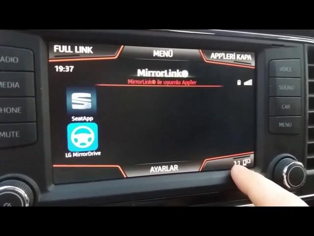 Samsung telefonda MirrorLink ve hareket halinde video
