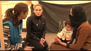 Angelina Jolie Visiting Syrian Refugees