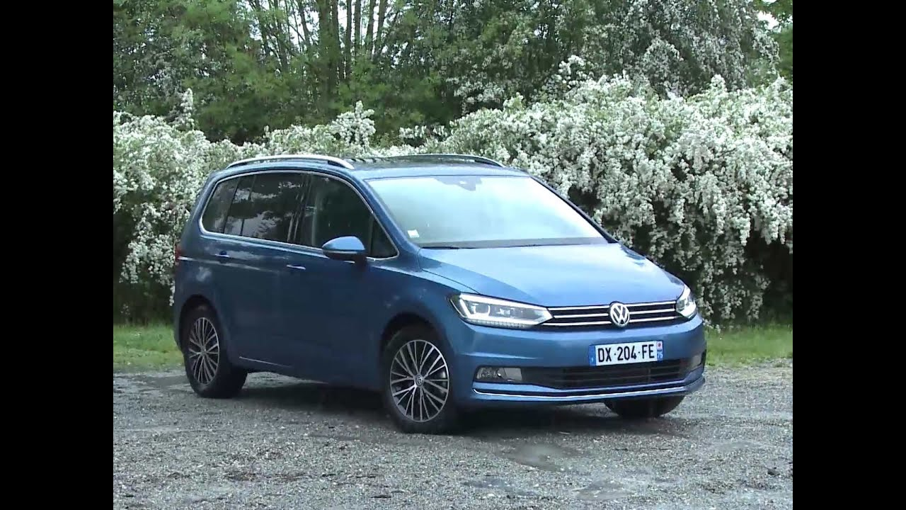Essai volkswagen touran 2 0 tdi 150 dsg6 carat youtube for Touran interieur 7 places