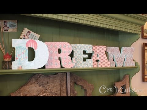 DIY | How to Decorate Wood Letters with Paper