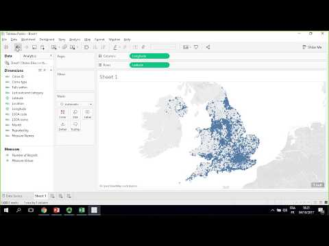 How to Create a Visualization and Publish to Tableau Public - Stolen Bikesin the UK