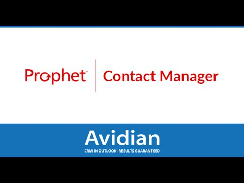 Prophet CRM | Contact Manager