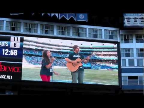 Motion Device's 10 Year Old Sara ROCKS The Argos at Rogers Centre