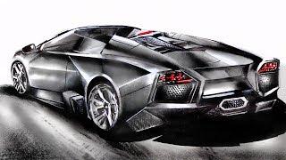 Drawing a Lamborghini