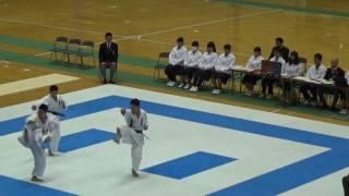 第36回全国高等学校空手道選抜大会  男子団体形  決勝  拓大紅陵VS世田谷学園