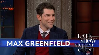 Max Greenfield Brings His Child To Work (Stephen's Work)
