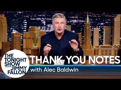 Thumbnail: Thank You Notes with Alec Baldwin