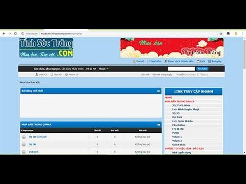 muaban.tinhsoctrang.com – Mua bán acc game, vật phẩm trong game, mua ban rao vặt, việc làm