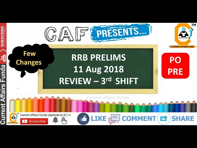 RRB PO PRE 11 AUG | 3rd Shift REVIEW | No Syllogism Asked But Approximation There Attempts 55 Around