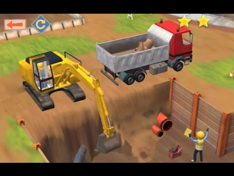 little builders construction game cartoon for children with cement mixer diggers and cranes youtube