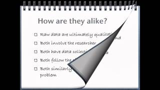 RESEARCH 1 - 5 - Differences in Quantitative and Qualitative Research