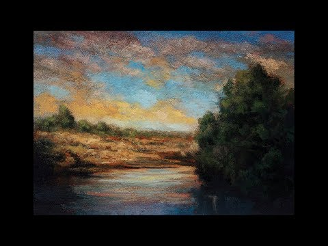 Morning before the Storm 5×7 Tonalist Landscape Oil Painting Demonstration