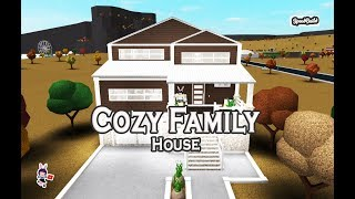 ROBLOX │Bloxburg - [SpeedBuild] Cozy Family House