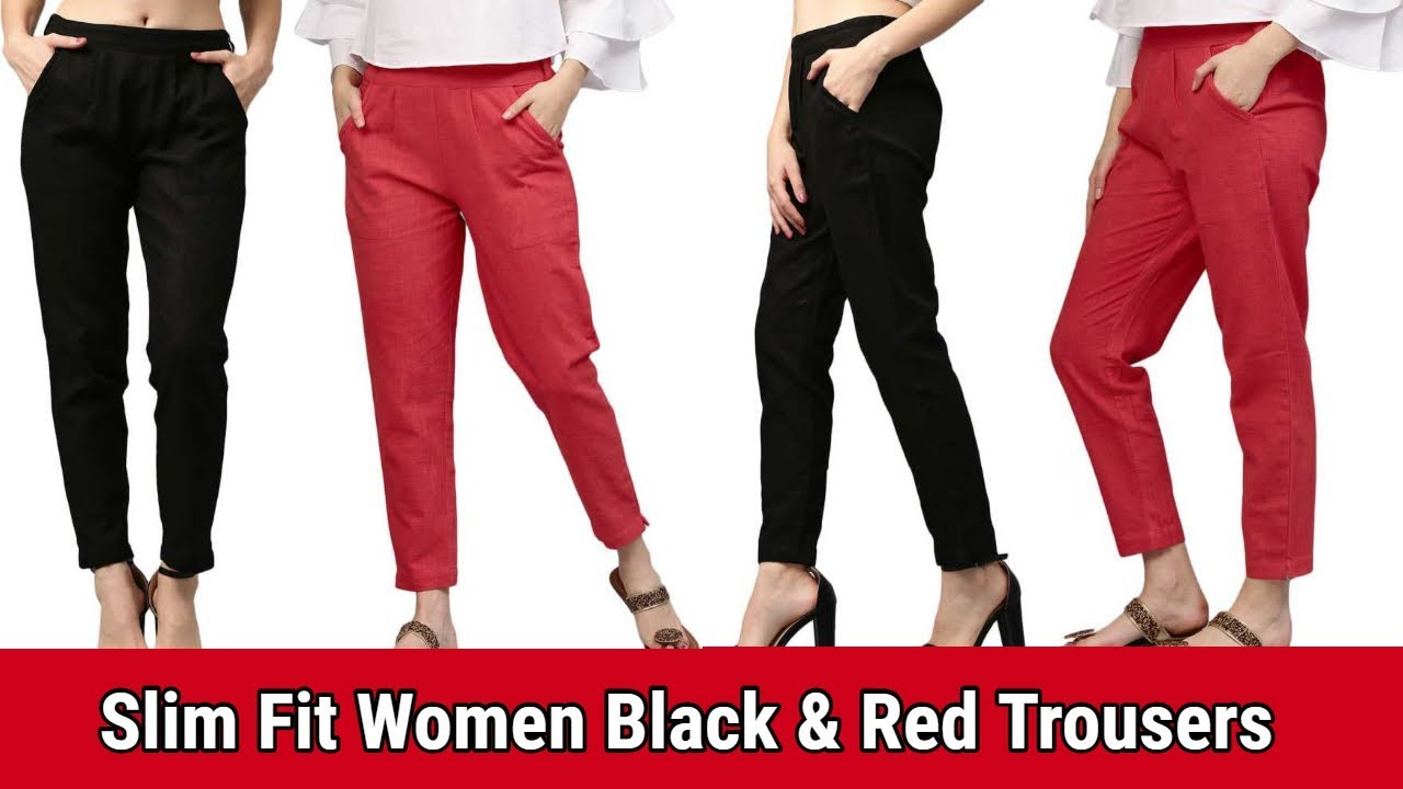 Flipkart Slim Fit Women Black Red Trousers Summer Special Palazzo Pant Culottes Trouser Youtube Discover women's work trousers with asos. flipkart slim fit women black red trousers summer special palazzo pant culottes trouser