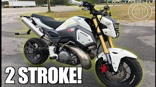 Crazy 2 Stroke Honda Grom! - World's Fastest Grom Built In 2 Weeks