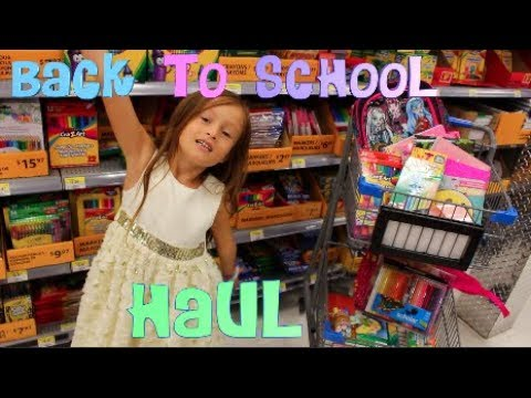 BACK TO SCHOOL HAUL - SUPPLIES HUNT WALMART SHOPPING WITH TOYSGAMESVIDEOS