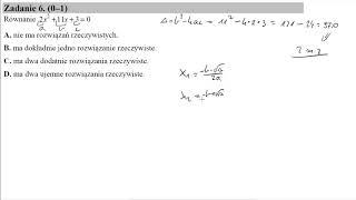 Matura czerwiec 2015 zadanie 6 Równanie 2x^2+11x+3=0: