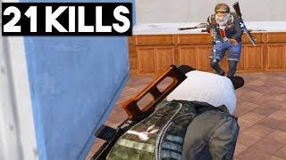 I ONLY FOUND A SHOTGUN! | 21 KILLS SOLOS vs SQUAD | PUBG Mobile
