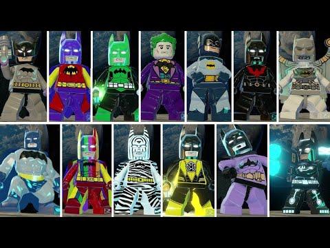 All Batman Characters & Suits in LEGO Batman 3