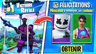 WINNER THE MARSHMELLO SKIN IN YOU FACE ON FORTNITE! (PERSONALISIERTER TEIL)