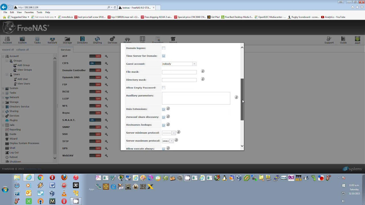 FreeNAS - Setup of FreeNAS after install and install VirtualBox JAIL OS (Part 5) - YouTube