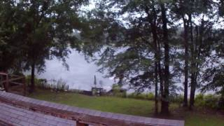 East Texas Rain On The Lake Where The Tiny House Is Located - Gilmer East Mountain