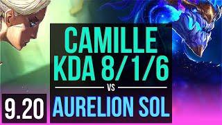 CAMILLE vs AURELION SOL (MID) | KDA 8/1/6 | Korea Master | v9.20