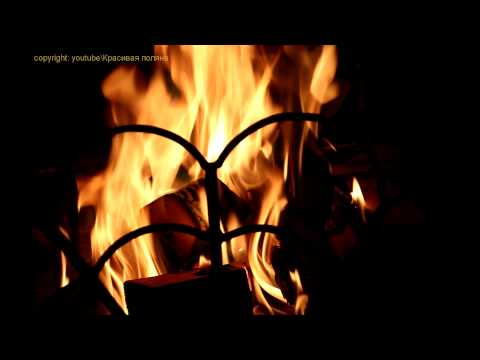 Камин, дождь ветер, гроза, гром, медитация. 30 Minutes Fire And Rain & FullHD Fireplace