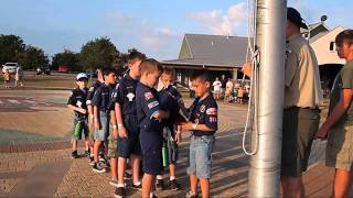 Cub Scout Pack 268 Posting The Colors @ Bovay 2011 Thumbnail