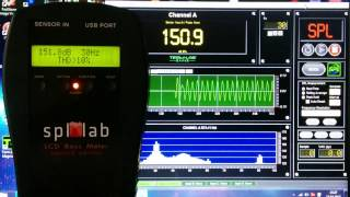 LCD Bass Meter(Second Edition) vs Term-Lab Magnum 30-80Hz sine sweep