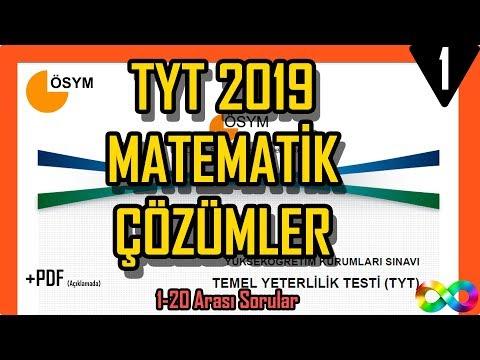 2019 TYT Matematik Çıkmış Soru Ve Çözümleri ÖSYM (1-20)