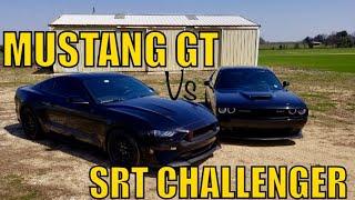 MUSTANG or MOPAR? 2018 Mustang GT VS SRT DoDGE Challenger!
