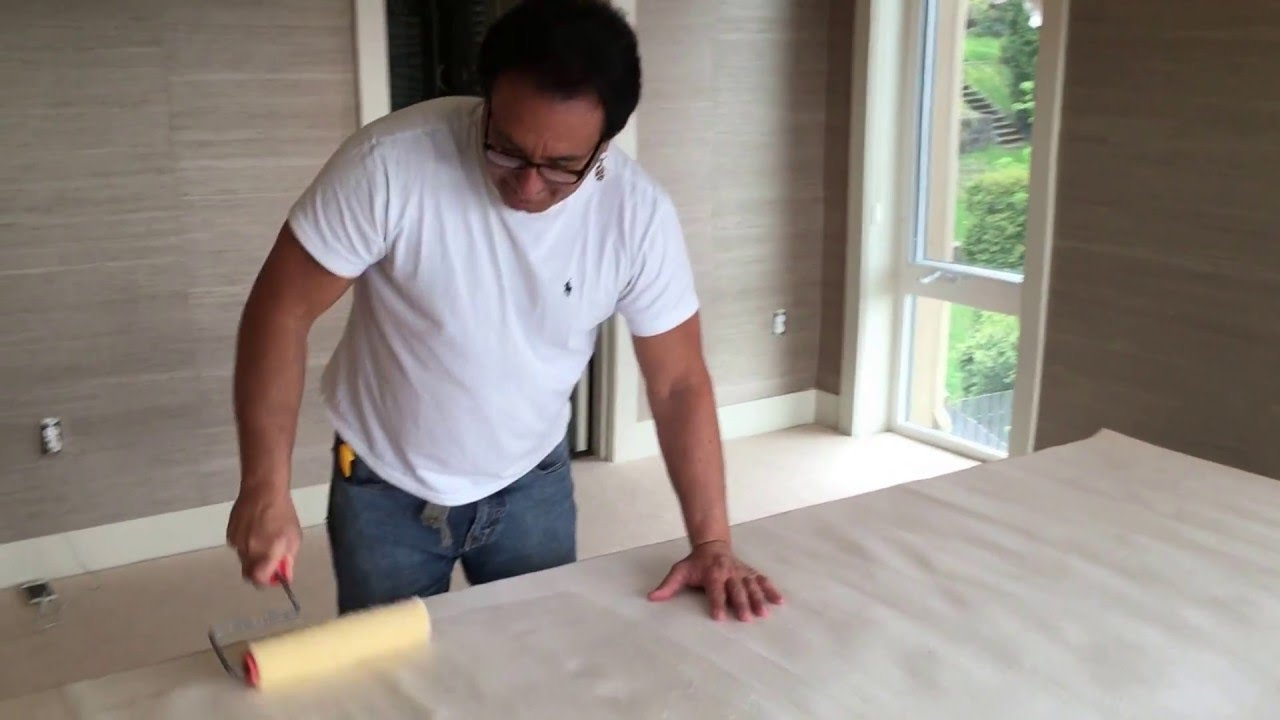 how to install unpasted grasscloth
