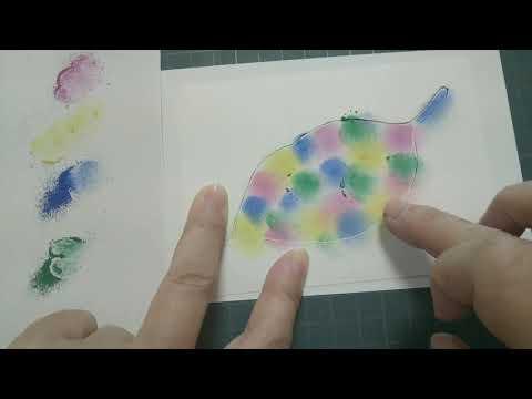 【初心者のためのパステルアート通信講座】3分で描けるかわいい葉っぱ