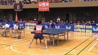 森薗政崇(明治大)vs伊丹雄飛(中央大)H29春 関東学生卓球リーグ|Rallys(ラリーズ)