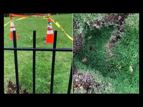Sinkholes Are Forming On the White House North Lawn