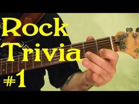 ROCK GUITAR TRIVIA #1 of 3 - Name All 15 Songs ( by ...