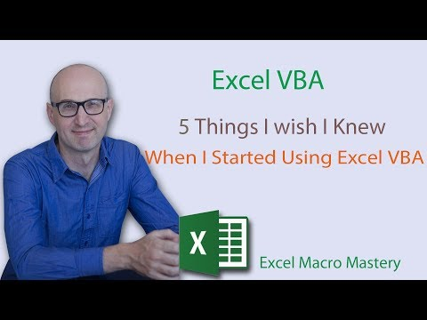 5 Things I wish I knew When I started using Excel VBA