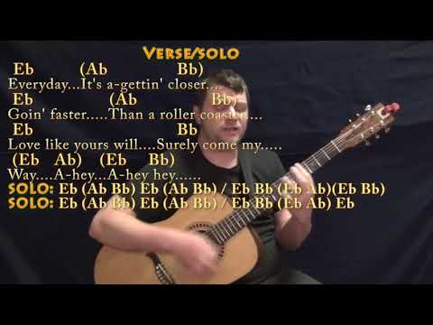 Everyday (Buddy Holly) Guitar Cover Lesson in Eb with Chords/Lyrics