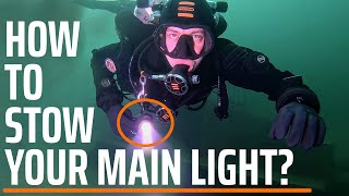 HOW TO STOW YOUR LIGHT? | TECLINE ACADEMY | 3 POSITIONS OF YOUR DIVE LIGHT