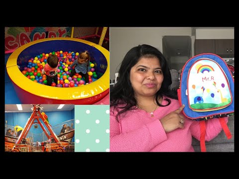 Indoor playground family fun for kids VLOG/ Personalised bag for my toddler/Indian MOM In AUStralia