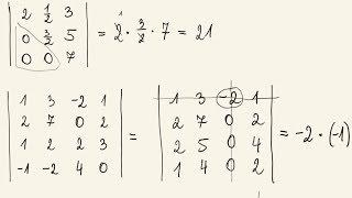 Wyznaczniki - sprytne metody obliczania