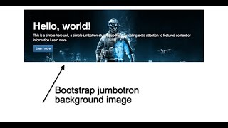 How To Set Background Image In Bootstrap Jumbotron Box Youtube