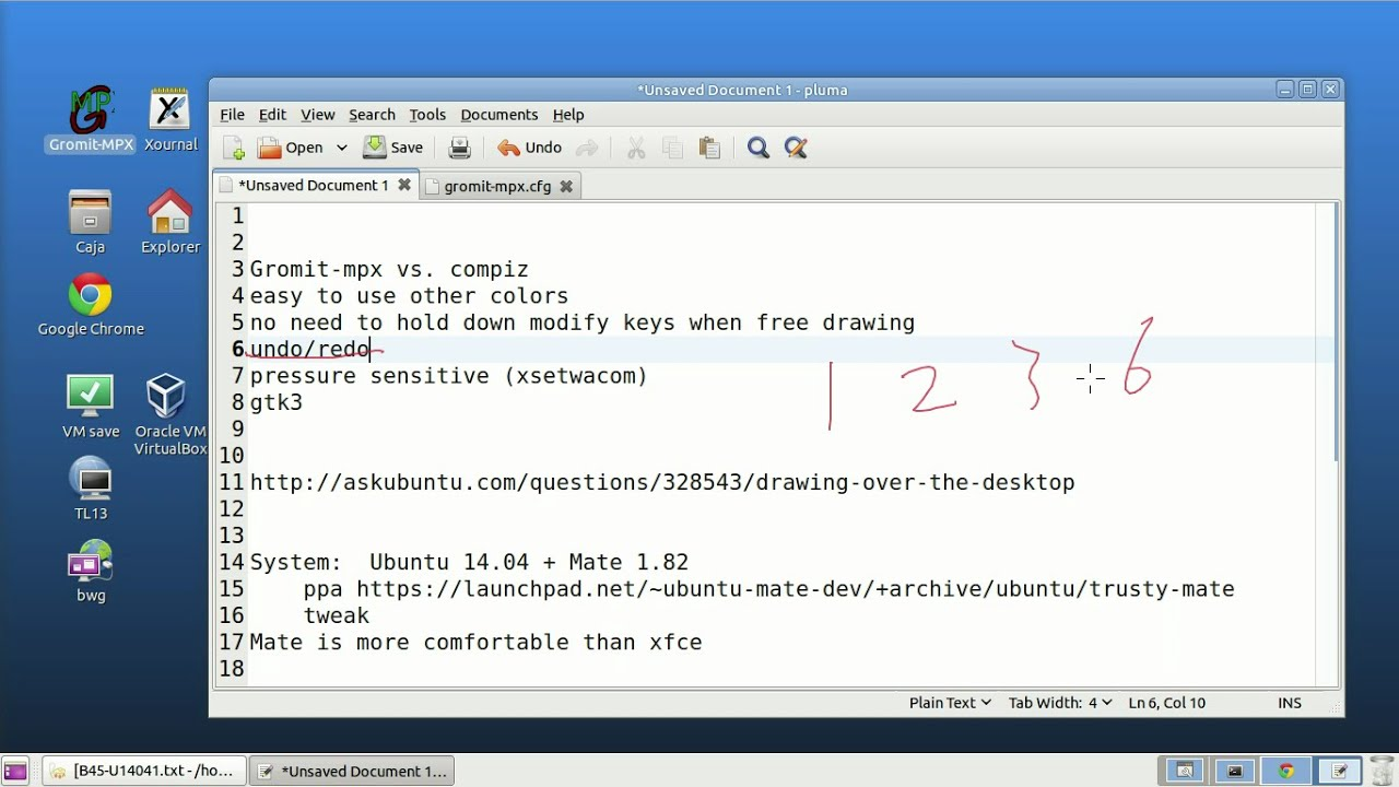 On Screen Annotation Free Draw On Desktop Gromit Mpx Vs Compiz