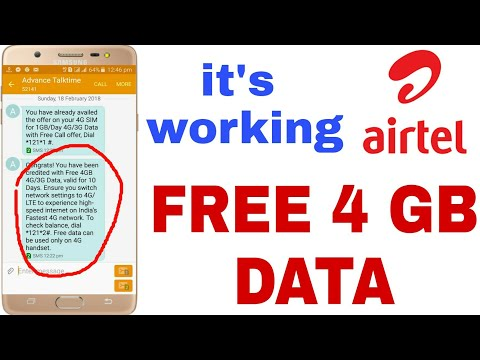 AIRTEL 4GB FREE 4G/3G INTERNET OFFER  | HOW TO GET AIRTEL FREE