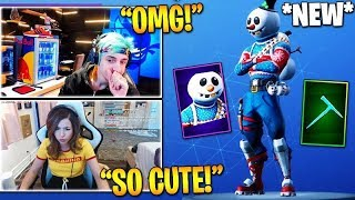 STREAMERS REACT TO *NEW* SLUSHY SOLDIER SKIN & ICICLE PICKAXE! (Fortnite Stream Highlights)