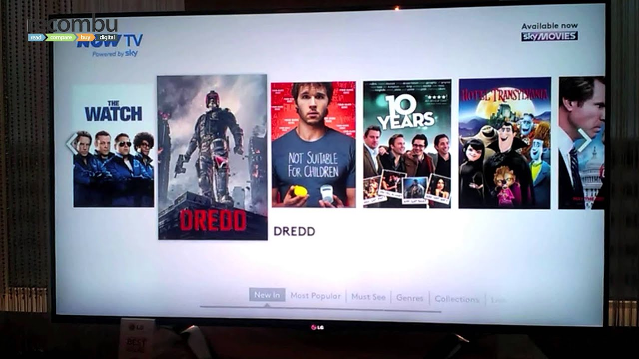 Sky Now TV on LG Smart TV hands-on - YouTube
