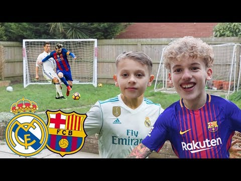 REAL MADRID v BARCELONA FOOTBALL CHALLENGE!!