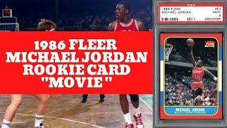 Iconic 1986 Fleer Michael Jordan Rookie Card Movie